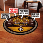 Personalized brewery round rug