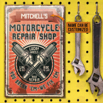 Personalized Motorcycle Repair Shop Lucky Classic Metal Signs