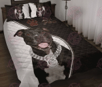 Love Pitbull Quilt Bed Set