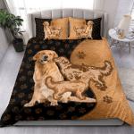 Golden Retriever Texture Style Bedding Set