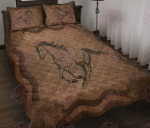 Horse Leather Pattern Print Quilt Bed Set