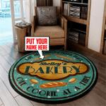 Personalized bakery round rug