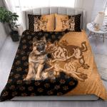 German Shepherd Texture Style Bedding Set