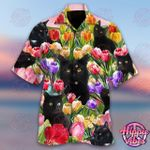 Cat And Tulip Garden Hawaii Shirt