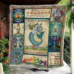 March Woman The Soul Of A Mermaid Yoga Lover Fleece Blanket