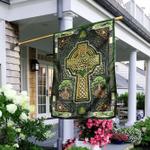 Irish Celtic Cross Happy Saint Patrick's Day Flag