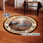 Personalized Deer Hunting Round Rug