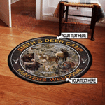 Personalized Hunter Welcome Round Rug