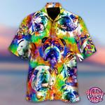 Courageous Partner - Colorful English Bulldog Dog Hawaii Shirt