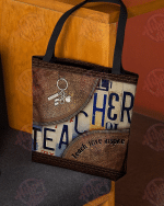 Teacher leather pattern print All-Over Tote