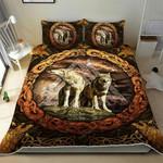 Viking Wolf Quilt Bed Set
