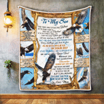 To My Son Spread Your Wings Eagle Quilt Blanket
