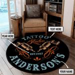 Personalized tattoo studio round rug HPV02
