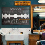 Personalized Barber Shop Classic Metal Signs
