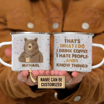 Personalized Bear That's What I Do Customized Campfire Mug