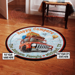 Personalized Happy Campers Round Rug