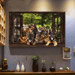 Window German Shepherd Horizontal Poster