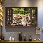 Window Yorkshire Terrier Horizontal Poster