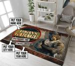 Personalized garage rug
