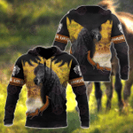 Black Horse 3D All Over Printed Shirts