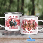 Just a Girl who loves Horse racing Personalized Campfire Mug