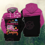 I Plan On Camping 3D All Over Printed Hoodie