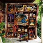 Book Dragon Quilt Blanket