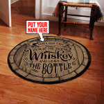 Personalized man cave round rug