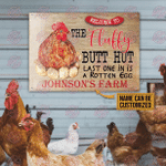 Personalized Chicken Last One In Is A Rotten Egg Customized Classic Metal Signs
