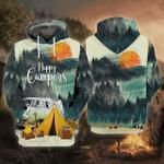 Happy Camper 3D All Over Printed Hoodie
