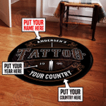 Personalized tattoo round rug HPV03