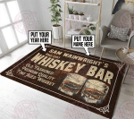 Personalized whiskey bar rug HPV01