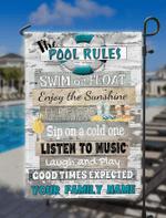 Customized Funny Pool Rules Flag, Beach Decor, Home Decor, Pool Flag ,Swimming Pool Flag