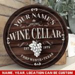 Custom Wine Cellar Wood Sign, Barrel Wine Sign