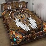 Native American Wolf Spirit Quilt Bed Set