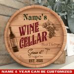 Custom Wine Cellar Round Wood Sign For Wine Stewards