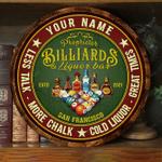 Billiard & Liquor Bar Customized Wood Sign