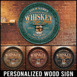 Irish Whiskey & Cigar Lounge Customized Wood Sign