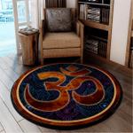 Namaste Yoga Round Rug