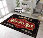 Personalized Whiskey Bar Rug HPV02