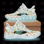 Turtle tiny flowers gift for turtle lover led shoes