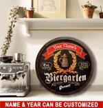 Custom Biergarten Round Wood Sign For Beer Lovers, Beer Garden Decor