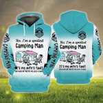 Camping Man 3D All Over Printed Hoodie HPV01