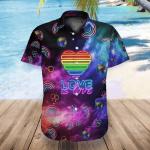 LGBT Galaxy Love Is Love Hawaii Shirt