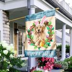 Golden Retriever Happy Easter Flag