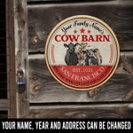 Cow Barn Live Like Someone Left The gate Open Personalized Wood Sign