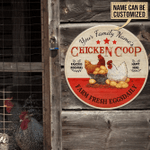 Chicken Coop Personalized Wood Sign