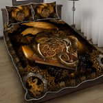Book Dragon Quilt Bed Set
