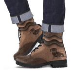 Dachshund Waves Leather Boots
