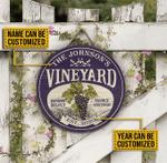 Personalized Grape Vineyard Estate Select Wood Sign
